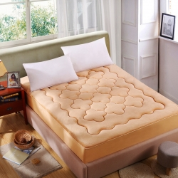 敢为床垫 加厚法莱绒梅花床笠式床垫