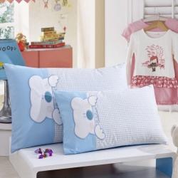 (总)御棉坊 全棉贴布绣花幼童枕 儿童枕芯