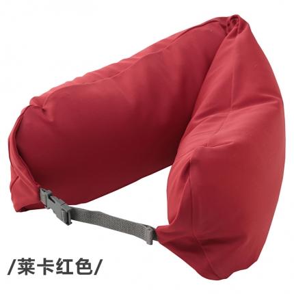 欧麦家家纺 新款护颈枕 莱卡红色