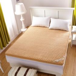 布卢姆床垫 2018新品珊瑚绒立体床垫 驼色