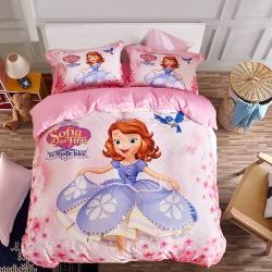 (总)迪士尼家居馆 全棉13372数码印花三件套四件套床单款