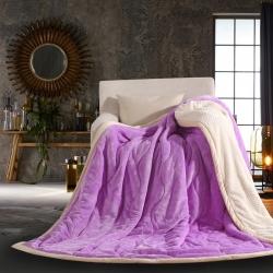 炽尊家纺 2019新款复合毯 淡紫色