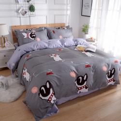 莱仕家纺 柔软舒适芦荟棉四件套床单款 宠物情缘