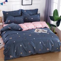莱仕家纺 柔软舒适芦荟棉四件套床单款 睡意