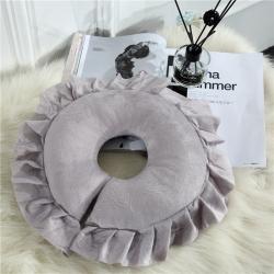 依靠家纺 美容四件套副品U型枕 灰色