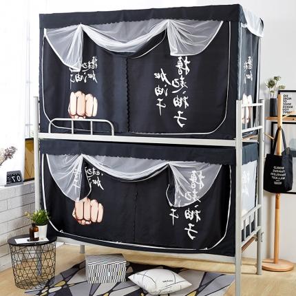 天依舍 B-19专利产品大版花学生双床帘蚊帐 加油干