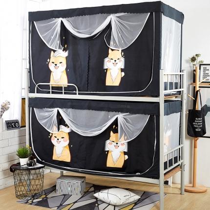天依舍 B-19专利产品大版花学生双床帘蚊帐 可爱狗