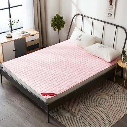 天依舍家纺 印花薄床垫 粉玉