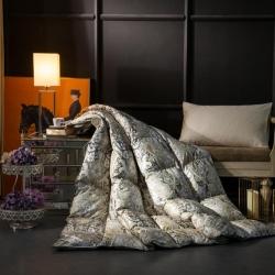 羽绒被 鹅绒被 羽绒枕 羽绒床垫 100支印花  爆款+视频