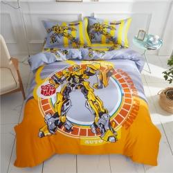 全棉大版卡通系列三件套四件套床单床笠款 大黄蜂