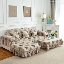 四季通用布艺沙发垫全盖欧式坐垫全包简约现代沙发套罩巾
