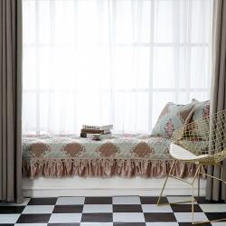 欧式飘窗垫窗台垫定做卧室阳台垫坐垫榻榻米垫子可机洗飘窗毯公主