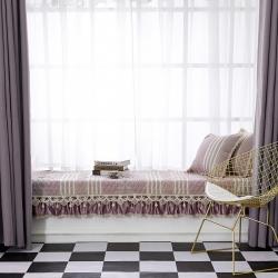 飘窗垫阳台垫欧式四季亚麻沙发垫布艺坐垫简约现代皮防滑抱枕定制