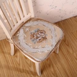 爱家居 欧式餐椅垫  浪漫满屋 驼色