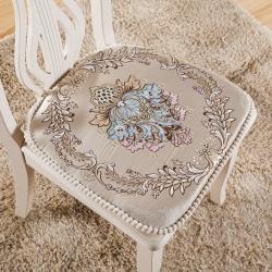 爱家居欧式餐椅垫 高档加厚布艺餐桌椅子坐垫 可拆洗凳子垫椅垫