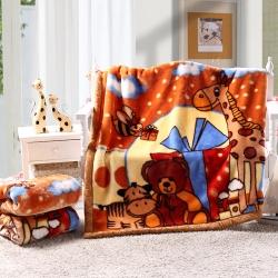 拉舍尔儿童幼儿园盖毯毛毯沙发毯办公室车载毯子午睡毯 一件代发