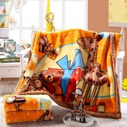 儿童毛毯盖毯双层拉舍尔毛毯毯子沙发午睡毯办公室盖毯 一件代发