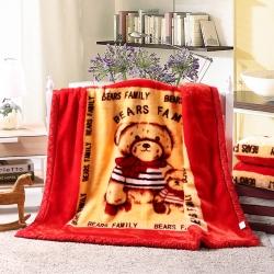 儿童毛毯盖毯双层拉舍尔毛毯毯子沙发办公室午睡毯 一件代发