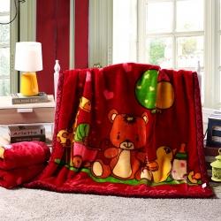 儿童毛毯幼儿园盖毯拉舍尔毛毯沙发毯办公室车载毯子 一件代发