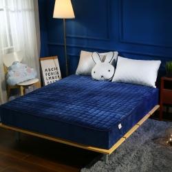 敢为床垫 加厚加重保暖水晶绒夹棉床笠