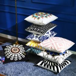沃兰国际 全棉毛线刺绣花靠垫抱枕方垫芯碎乳胶枕芯方枕头