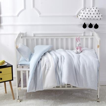 御棉坊 针织彩棉婴童套件幼儿园被子三件套/六件套 小猫蓝