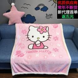 (总)萝莉家纺 法莱绒宝宝午睡毯子羊羔绒沙发盖毯水晶绒珊瑚绒