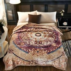 凤凰林毛毯  丝滑保暖  5D压花 天丝毯 拉舍尔毛毯