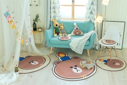 (总)源本家居 慢回弹绒类地垫 儿童爬行垫 坐垫 异形垫