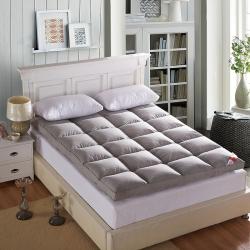 尚舒雅 羽丝绒床垫床褥子单人双人垫被褥 磨毛灰色