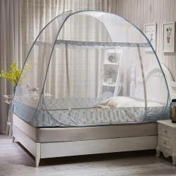 免安装双门大空间蒙古包帐篷1.8m床1.5m折叠加密加厚蚊帐