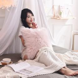 (总)瑞莉安枕芯 北欧长毛绒仿羊毛皮草靠垫抱枕套芯