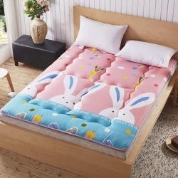 尚舒雅 磨毛床垫床褥子单人双人垫被褥学生宿舍 兔子