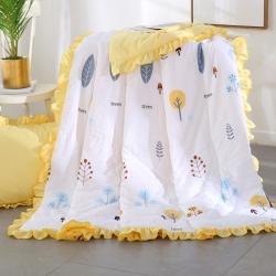 AB版水洗棉夏被韩版花边空调被 儿童公主夏凉被三件套