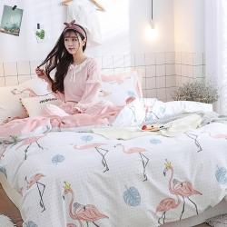 (总)住趣家居 小清新全棉四件套床单床笠款