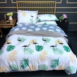 寐怡家纺 全棉活性印染13070纯棉四件套三件套 床上用品
