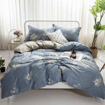 寐怡家纺 全棉活性四件套床上用品 纯棉套件-花瑞兰
