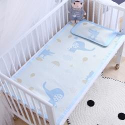 御棉坊 儿童凉席两件套 婴儿冰丝凉席 幼儿园席子 小象鳄鱼