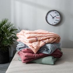 (总)2018 奥汀洛 织带色织水洗棉全棉夏被空调被单人双人