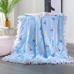 AB版水洗棉夏被四件套韩版花边空调被 儿童公主夏凉被三件套