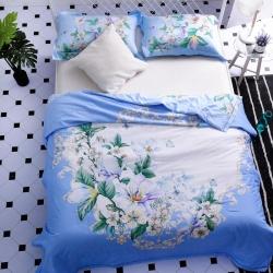 (总)象莎家纺 13372活性全棉大版花 纯棉夏被系列