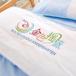 幼儿园全棉套件 横头拼接绣花款  儿童三件套 婴童六件套