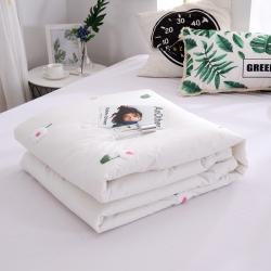 晓苑(总)全棉水洗棉毛巾绣夏被小雏菊夏凉被空调被