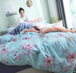 (总)全棉13372北欧小清新四件套唯美INS花卉床单床笠款