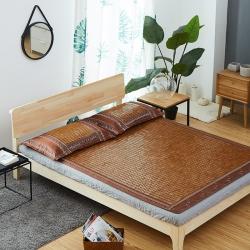 玖治家纺  碳化麻将席双人床竹凉席0.9米学生宿舍席私人定制