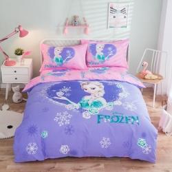 (总)全棉纯棉活性卡通三四件套男女孩全棉床单被套可爱儿童