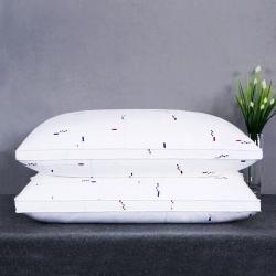 沃兰国际 全棉英伦风贡缎印花护颈立体枕芯安睡助眠枕头