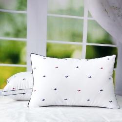兴丝露枕芯 小水鸭双边立体枕 枕头 舒适枕