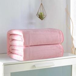 (总)来菲家纺 纯色金貂绒毛毯加厚法莱绒法兰绒毯子素色盖毯8
