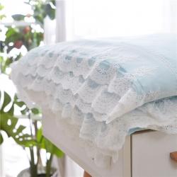 2018慕梵法式公主天丝麻夏被蕾丝边夏凉被三件套可水洗空调被